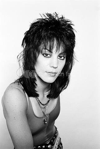 Joan Jett photographed in Philadelphia, PA, June 1984.<br /> &copy; Scott Weiner /MediaPunch.