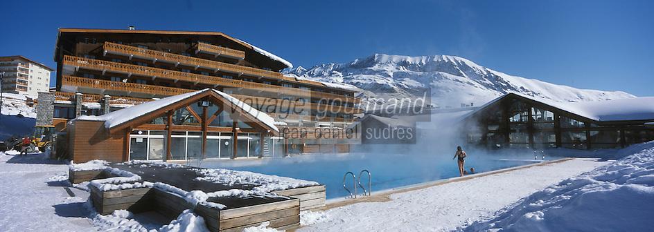 Europe/France/Rhône-Alpes/38/Isère/Alpe-d'Huez: la piscine en plein air