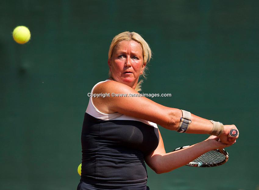 Netherlands, Amstelveen, August 22, 2015, Tennis,  National Veteran Championships, NVK, TV de Kegel,  Lady's 55+, Josephine van der Stroom<br /> Photo: Tennisimages/Henk Koster
