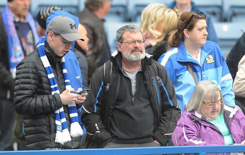 Blackburn Rovers fans enjoy the pre-match atmosphere <br /> <br /> Photographer Kevin Barnes/CameraSport<br /> <br /> The EFL Sky Bet Championship - Blackburn Rovers v Swansea City - Sunday 5th May 2019 - Ewood Park - Blackburn<br /> <br /> World Copyright © 2019 CameraSport. All rights reserved. 43 Linden Ave. Countesthorpe. Leicester. England. LE8 5PG - Tel: +44 (0) 116 277 4147 - admin@camerasport.com - www.camerasport.com