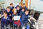 Teacher Lisa Gallwey and her transition year students who are looking for senior citizens to volunteer for their Log on Learn project l-r: Conor McGree, Cian tangney, stephen McKenna, Benjamin Haefele, Kamil Kunicki, Jonathan O'Rourke, Jason Hanafin and Ewan Weldon
