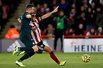 Billy Sharp (r) of Sheffield United runs battles with Paul Dummett of Newcastle United during the Premier League match at Bramall Lane, Sheffield. Picture date: 5th December 2019. Picture credit should read: James Wilson/Sportimage