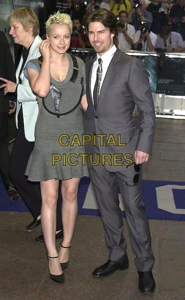 "SAMANTHA MORTON & TOM CRUISE.""Minority Report"" Screening.28th June 2002.full length.Ref: PL.www.capitalpictures.com.sales@capitalpictures.com.©Capital Pictures."