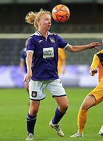 20190912 - Anderlecht , BELGIUM : Anderlecht's Charlotte Tisson is pictured during the female soccer game between the Belgian Royal Sporting Club Anderlecht Dames  and BIIK Kazygurt from Shymkent in Kazachstan, this is the first leg in the round of 32 of the UEFA Women's Champions League season 2019-20120, Thursday 12 th September 2019 at the Lotto Park in Anderlecht , Belgium. PHOTO SPORTPIX.BE | SEVIL OKTEM