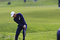 Thorbjorn Olesen Team Europe chips onto the 9th green during Friday's Fourball Matches at the 2018 Ryder Cup, Le Golf National, Iles-de-France, France. 28/09/2018.<br /> Picture Eoin Clarke / Golffile.ie<br /> <br /> All photo usage must carry mandatory copyright credit (© Golffile | Eoin Clarke)