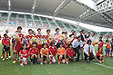 (L to R) Megumi Takase, Shinobu Ono, Yukari Kinga, Asuna Tanaka, Ayumi Kaihori, Nahomi Kawasumi, Homare Sawa (Leonessa),  Norio Sasaki, Karina Maruyama (Ichihara-Chiba Ladies), JULY 24, 2011 - Football / Soccer : 2011 Plenus Nadeshiko LEAGUE 1st Sec match between INAC Kobe Leonessa 2-0 JEF United Ichihara-Chiba Ladies at Home's Stadium Kobe in Hyogo, Japan. (Photo by Akihiro Sugimoto/AFLO SPORT) [1080]
