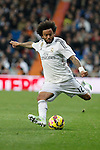 Real Madrid´s Marcelo Vieira during La Liga match at Santiago Bernabeu stadium in Madrid, Spain. February 14, 2015. (ALTERPHOTOS/Victor Blanco)
