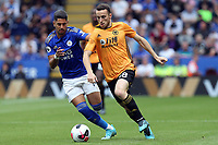 Ayoze Perez of Leicester City and Diogo Jota of Wolverhampton Wanderers during Leicester City vs Wolverhampton Wanderers, Premier League Football at the King Power Stadium on 11th August 2019