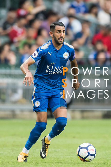 Leicester City FC midfielder Riyad Mahrez in action during the Premier League Asia Trophy match between Leicester City FC and West Bromwich Albion at Hong Kong Stadium on 19 July 2017, in Hong Kong, China. Photo by Weixiang Lim / Power Sport Images