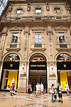 Louis Vuitton Shop in Vittorio Emanuele II Shopping Gallery in Milan, Italy