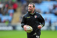Leicester Tigers Head Coach Aaron Mauger looks on during the pre-match warm-up. Aviva Premiership match, between Wasps and Leicester Tigers on January 8, 2017 at the Ricoh Arena in Coventry, England. Photo by: Patrick Khachfe / JMP