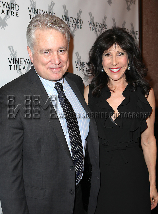 David Thompson and Catherine Schreiber attending the Vineyard Theatre's 30th Anniversary Gala Celebration Cocktail Reception at the Edison Ballroom in New York City on 3/18/2013