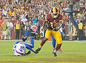 Washington Redskins wide receiver Ryan Grant (14) scores a second quarter touchdown over Buffalo Bills cornerback Kevon Seymour (45) during the pre-season game at FedEx Field in Landover, Maryland on Friday, August 26, 2016.  The Redskins won the game 21 - 16.<br /> Credit: Ron Sachs / CNP