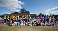 Essex CCC XI, Upminster and colts section pose for a photograph between innings during Upminster CC vs Essex CCC, Benefit Match Cricket at Upminster Park on 8th September 2019