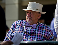 HALLANDALE BEACH, FL - JANUARY 27: A man reads the program and watches the races on Pegasus World Cup Invitational Day at Gulfstream Park Race Track on January 27, 2018 in Hallandale Beach, Florida. (Photo by Scott Serio/Eclipse Sportswire/Getty Images)