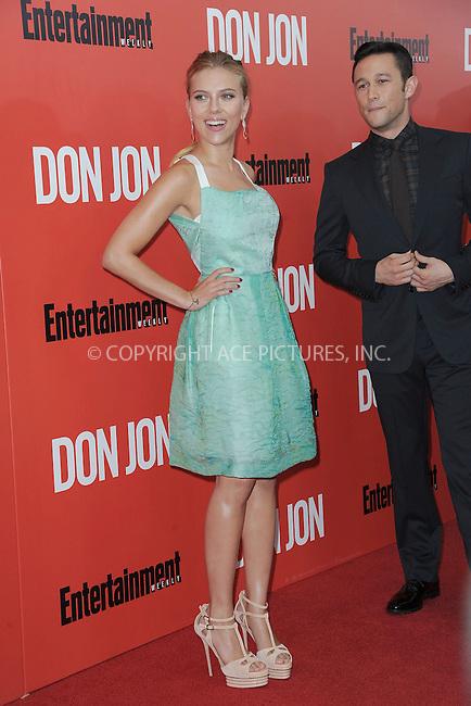 WWW.ACEPIXS.COM<br /> September 12, 2013...New York City<br /> <br /> Scarlett Johansson and Joseph Gordon-Levitt attending 'Don Jon' New York Premiere at SVA Theater on September 12, 2013 in New York City.<br /> <br /> Please byline: Kristin Callahan/Ace Pictures<br /> <br /> Ace Pictures, Inc: ..tel: (212) 243 8787 or (646) 769 0430..e-mail: info@acepixs.com..web: http://www.acepixs.com