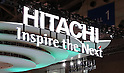 October 4, 2016, Chiba, Japan - This picture taken on Tuesday October 4, 2016 shows the booth of Japanese electronics giant Hitachi at the CEATEC Japan 2016 in Chiba, suburban Tokyo. Hitachi is expecting to sell its two subsidiaries, news reported on October 5.    (Photo by Yoshio Tsunoda/AFLO) LWX -ytd-