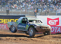 Apr 17, 2011; Surprise, AZ USA; LOORRS driver Casey Currie (2) during round 4 at Speedworld Off Road Park. Mandatory Credit: Mark J. Rebilas-