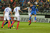 Jake Gallagher Of England C goes close during Slovakia Under-21 vs England C, International Challenge Trophy Football at Mestsky Stadion on 8th November 2017