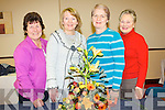 GARDEN CLUB: Tralee Flower and Garden Club who met in the Grand hotel, Tralee, on Monday night for their monthly meeting l-r: Margaret Groves (chairperson), Elsa Conroy (treasurer), Kathleen Reidy (secretary) and Vera O'Connor (competition secretary).   Copyright Kerry's Eye 2008