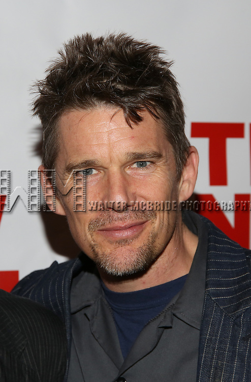 """Ethan Hawke attends the Opening Night of The New Group World Premiere of """"All The Fine Boys"""" at the The Green Fig Urban Eatery on March 1, 2017 in New York City."""
