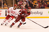 Chad Krys (BU - 5), Ryan Donato (Harvard - 16) - The Harvard University Crimson defeated the Boston University Terriers 6-3 (EN) to win the 2017 Beanpot on Monday, February 13, 2017, at TD Garden in Boston, Massachusetts.