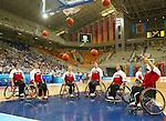 Equipe du Canada de basket en fauteuil roulant.<br /> (Benoit Pelosse photographe)