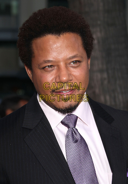 Terrence Howard<br /> &quot;Prisoners&quot; Los Angeles Premiere held at the AMPAS Theatre, Beverly Hills, California, USA, 12th September 2013.<br /> portrait headshot purple tie white shirt beard goatee facial hair <br /> CAP/ADM/RE<br /> &copy;Russ Elliot/AdMedia/Capital Pictures