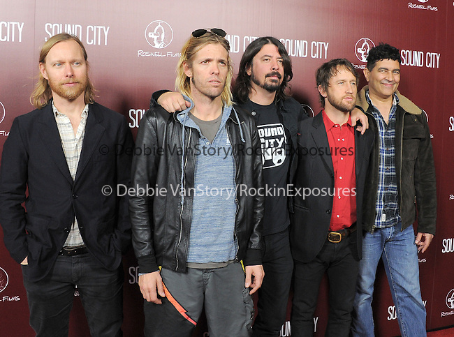 The Foo Fighters at The L.A.Premiere of Sound City held at The Cinerama Dome in Hollywood, California on January 31,2013                                                                   Copyright 2013 Hollywood Press Agency