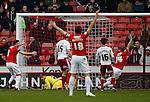 George Long of Sheffield Utd makes a save on the line - English League One - Sheffield Utd vs Coventry City - Bramall Lane Stadium - Sheffield - England - 13th December 2015 - Pic Simon Bellis/Sportimage-