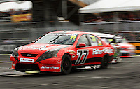 Marcus Marshall takes Holden Hairpin during Race Two during Day Three of the Hamilton 400 Aussie V8 Supercars Round Two at Frankton, Hamilton, New Zealand on Sunday, 19 April 2009. Photo: Dave Lintott / lintottphoto.co.nz