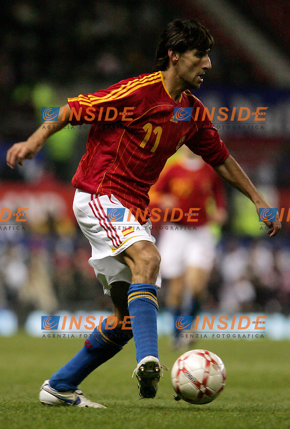 Spain's Miguel Angel Angulo during a friendly match at Old Trafford in Manchester, Wednesday February 07, 2007. (INSIDE/ALTERPHOTOS/Alvaro Hernandez).