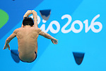 Sho Sakai (JPN), <br /> AUGUST 15, 2016 - Diving : <br /> Men's 3m Springboard Preliminary Round <br /> at Maria Lenk Aquatic Centre <br /> during the Rio 2016 Olympic Games in Rio de Janeiro, Brazil. <br /> (Photo by Yohei Osada/AFLO SPORT)
