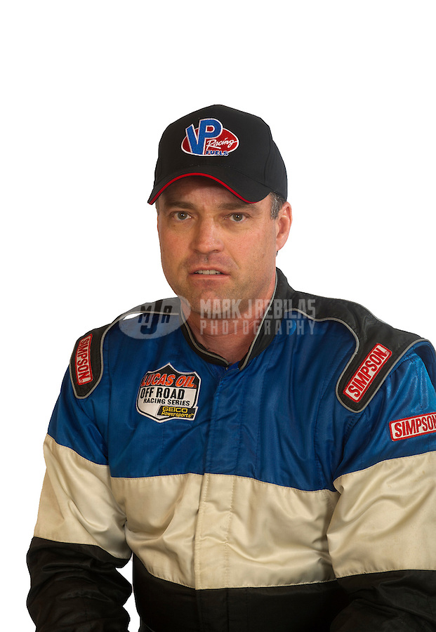 Mar. 18, 2011; Chandler, AZ, USA;  LOORRS driver Dow Woerner poses for a portrait at Firebird International Raceway. Mandatory Credit: Mark J. Rebilas