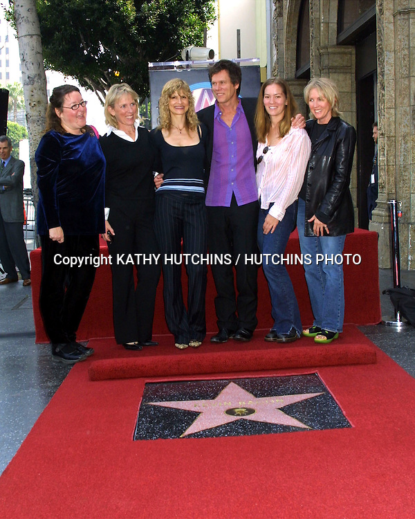 ©2003 KATHY HUTCHINS / HUTCHINS PHOTO.KEVIN BACON RECEIVES A STAR .ON THE HOLLYWOOD WALK  OF FAME.SEPTEMBER 30, 2003..KYRA SEDGWICK.KEVIN BACON.FAMILY AND FRIENDS