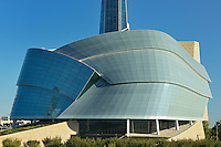 Canadian Museum for Human Rights (CMHR) and 'The Cloud' fascade<br /> Winnipeg<br /> Manitoba<br /> Canada