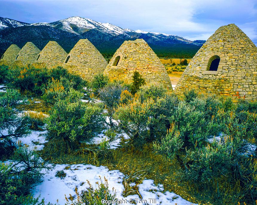 Mining Kilns, Ward Charcoal Ovens, Ward Ghost Town, Nevada