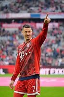 10.03.2018,  Football 1.Liga 2017/2018, 26. match day,  FC Bayern Muenchen - Hamburger SV, in Allianz Arena Muenchen. Sandro Wagner (FC Bayern Muenchen)  Aufwaermen. *** Local Caption *** © pixathlon<br /> <br /> Contact: +49-40-22 63 02 60 , info@pixathlon.de