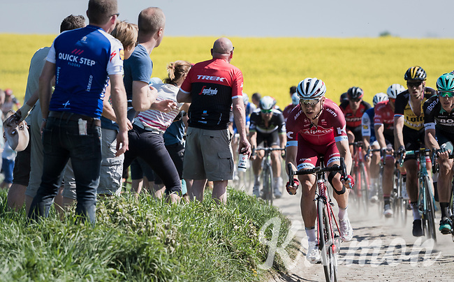 Tony Martin (DEU/Katusha-Alpecin)<br /> <br /> 115th Paris-Roubaix 2017 (1.UWT)<br /> One Day Race: Compi&egrave;gne &rsaquo; Roubaix (257km)