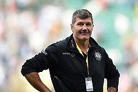 Exeter Chiefs Director or Rugby Rob Baxter is all smiles after the match. Aviva Premiership Final, between Wasps and Exeter Chiefs on May 27, 2017 at Twickenham Stadium in London, England. Photo by: Patrick Khachfe / JMP
