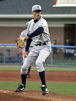 July 11, 2003:  Pitcher Jeff Kartsens of the Staten Island Yankees, Class-A affiliate of the New York Yankees, during a NY-Penn League game at Dwyer Stadium in Batavia, NY.  Photo by:  Mike Janes/Four Seam Images