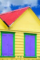 Colorful local Caribbean shack, St Johns, Antigua, Caribbean