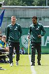 13.07.2019, Parkstadion, Zell am Ziller, AUT, FSP, Werder Bremen vs. Darmstadt 98<br /> <br /> im Bild<br /> Niklas Moisander (Werder Bremen #18), <br /> Theodor Gebre Selassie (Werder Bremen #23), <br /> die beiden geschonten Spieler des SV Werder Bremen beim Testspiel, <br /> <br /> Foto © nordphoto / Ewert