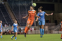 Bridgeview, IL - Saturday July 23, 2016:  Chicago Red Stars midfielder Taylor Comeau (7) and Houston Dash midfielder Cami Privett (23) during a regular season National Women's Soccer League (NWSL) match between the Chicago Red Stars and the Houston Dash at Toyota Park.