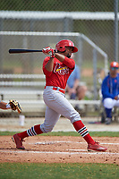 St. Louis Cardinals Vaughn Bryan (5) bats during a Minor League Spring Training game against the New York Mets on March 31, 2016 at Roger Dean Sports Complex in Jupiter, Florida.  (Mike Janes/Four Seam Images)