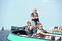 SKÛTSJESILEN: ECHTERNERBRUG: 06-08-2015, IFKS skûtsjesilen, Schipper Froukje Osinga-Meijer wint wederom met de Jonge Jasper in de A klasse, ©foto Martin de Jong