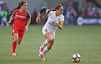 Portland, OR - Wednesday June 28, 2017: Shea Groom, Meleana Shim during a regular season National Women's Soccer League (NWSL) match between the Portland Thorns FC and FC Kansas City at Providence Park.