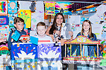 The winners of the U12 category at the Birds Amusements Art competition in Killarney on Saturday evening l-r: Darek O'Connor, Mike O'Brien, Viktoria Goncolozaml, Elma Cremin
