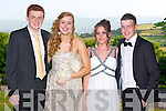 Liam Fleming, Emma Griffin, Tara Coffey and Ryan Ashe at the ISK debs at the Ballyroe Heights hotel, Tralee on Thursday.