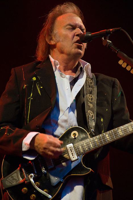 Neil Young headlines the Hop Farm one day festival on 6 July 2008 in Kent, England.
